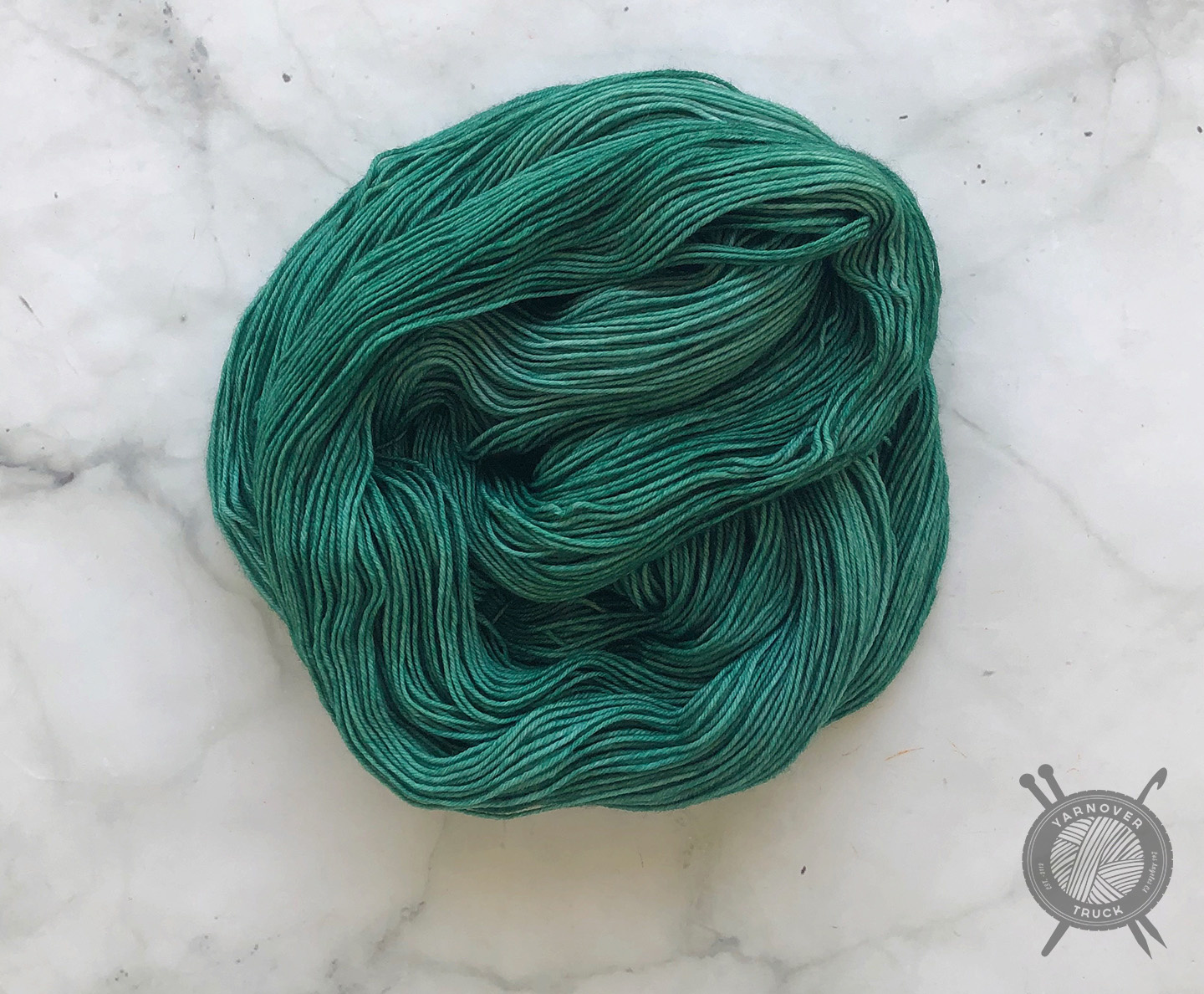 Candy Skein Emerald Gumdrop on Yummy Fingering from Candy Skein