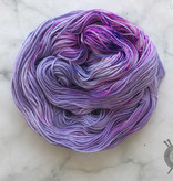 Destination Yarn Ube on Silver Shiny DK from Destination Yarn
