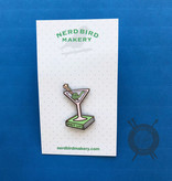 Knit Lit Enamel Pin from Nerd Bird Makery