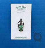 Bobble Tea Enamel Pin from Nerd Bird Makery