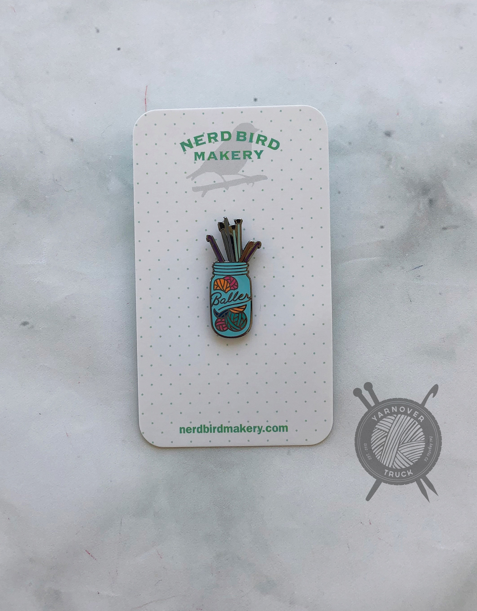 Baller Enamel Pin from Nerd Bird Makery