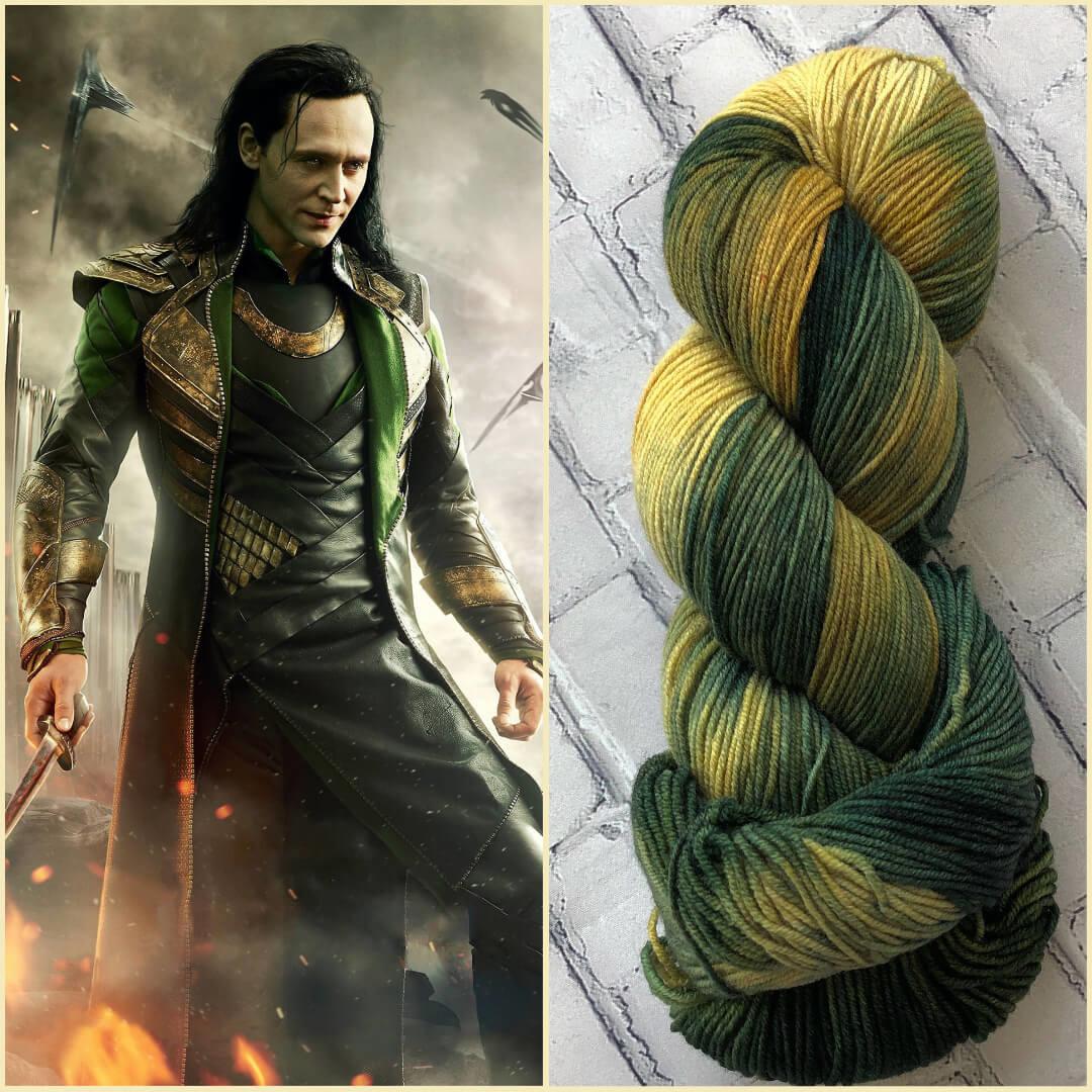 Forbidden Fiber Co. Loki on Gluttony Sock from Forbidden Fiber Co.