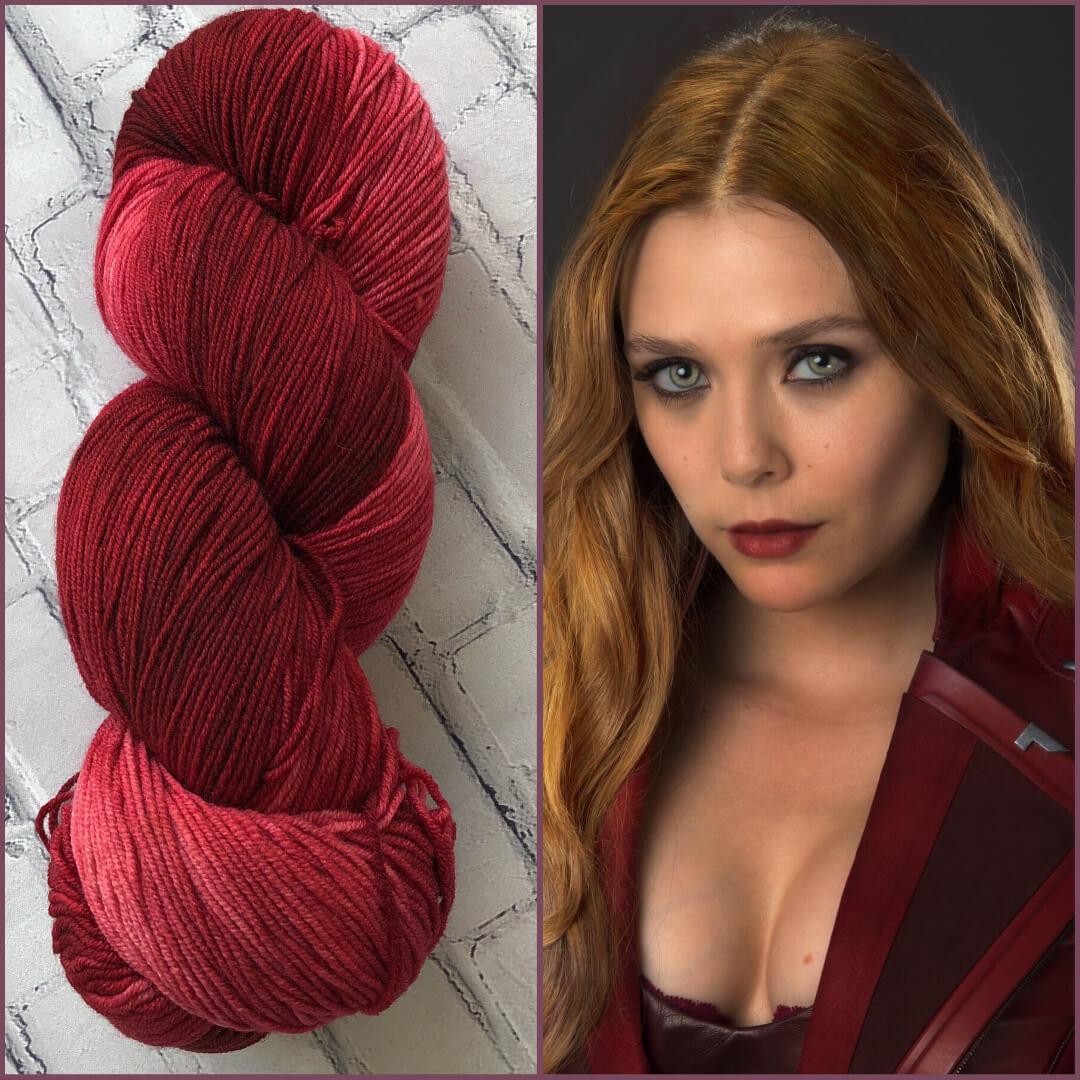 Forbidden Fiber Co. Scarlet Witch on Pride from Forbidden Fiber Co.
