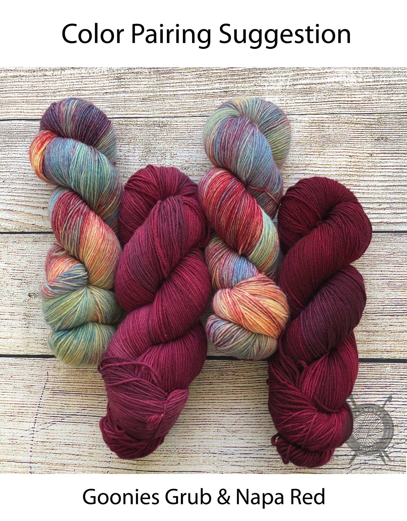 Candy Skein Goonies Grub on Yummy Fingering from Candy Skein