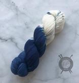 A Whimsical Wood Yarn Co Sad Ass on Pixie Toes Sock from A Whimsical Wood Yarn Co