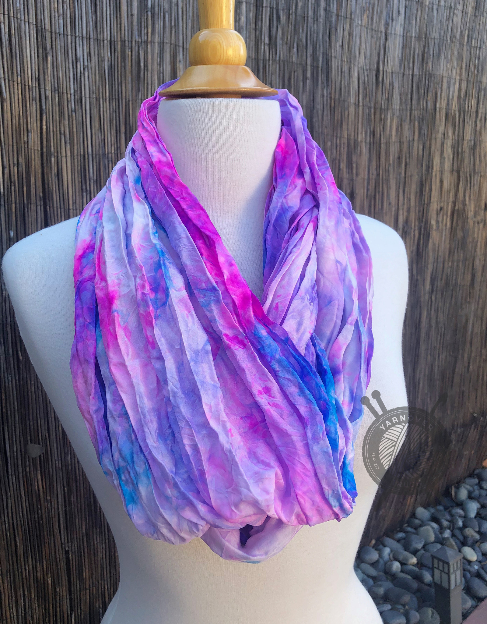 Oink Pigments Super Dope Heliotrope Silk Scarf from Oink Pigments