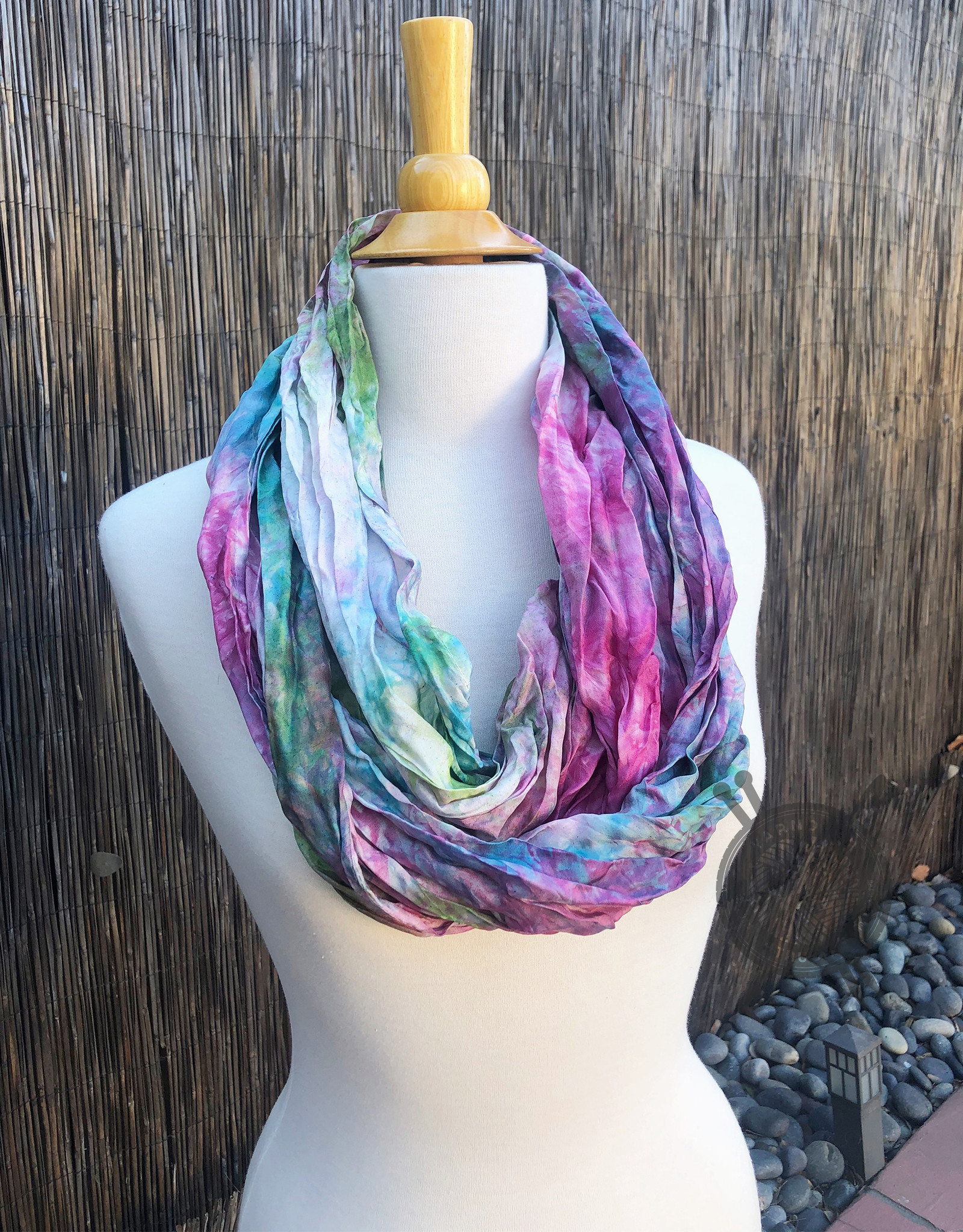 Blackberry Brambles Silk Scarf from Oink Pigments