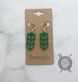 Children of the Rice Green Pretty Knitting Small Earring from Children of the Rice
