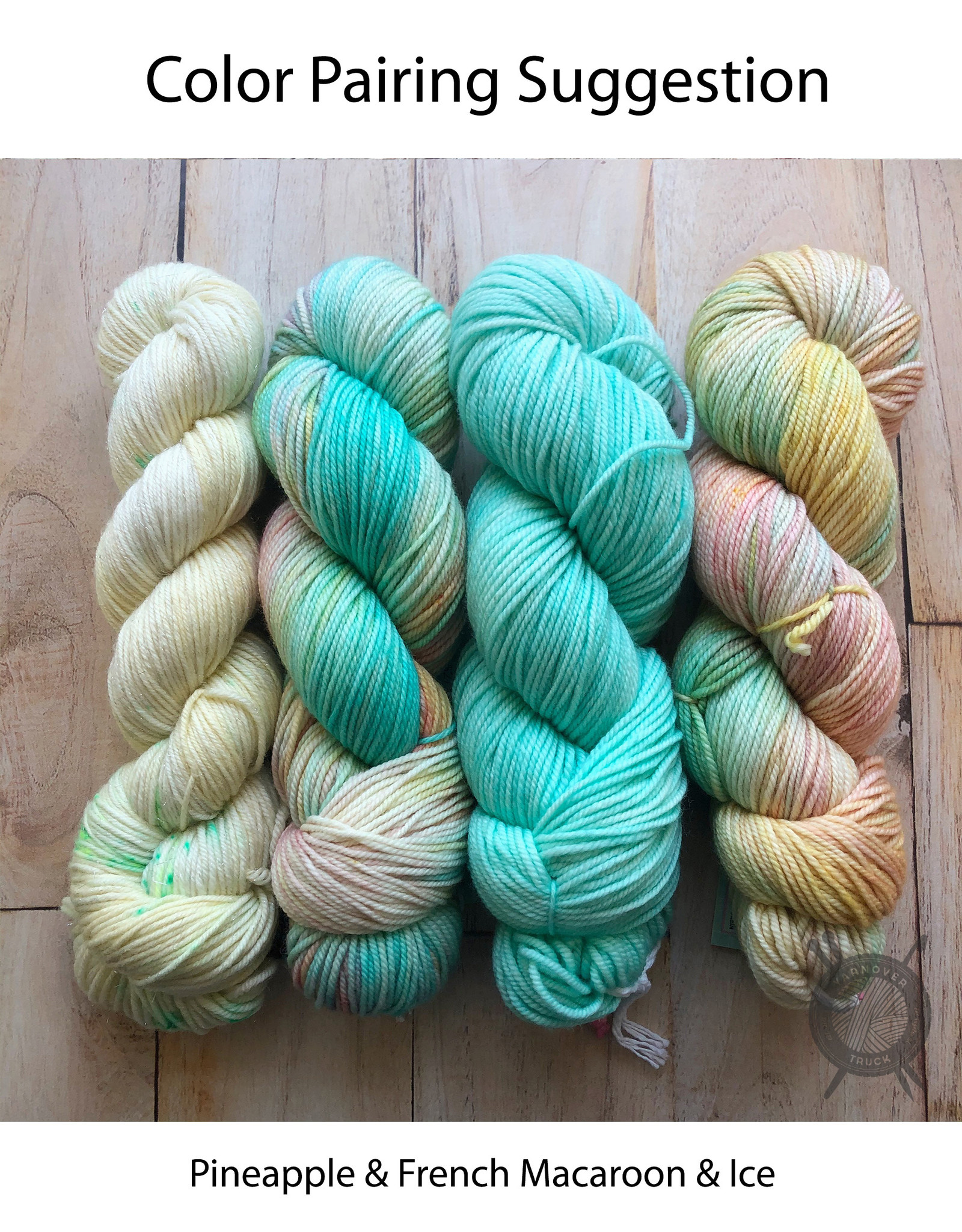 Candy Skein French Macaroon on Yummy Fingering from Candy Skein