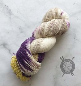 Forbidden Fiber Co. August 2021 Color of the Month on Gluttony Sock from Forbidden Fiber Co.