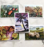 Yarnover Truck   Sample Pack of Watercolor Note Cards by Diane Medgaarden Nelson