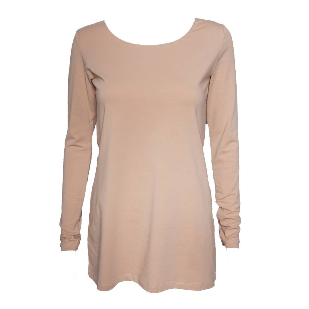 Crea Concept Crea Concept Knit Long Sleeve Top - Peach