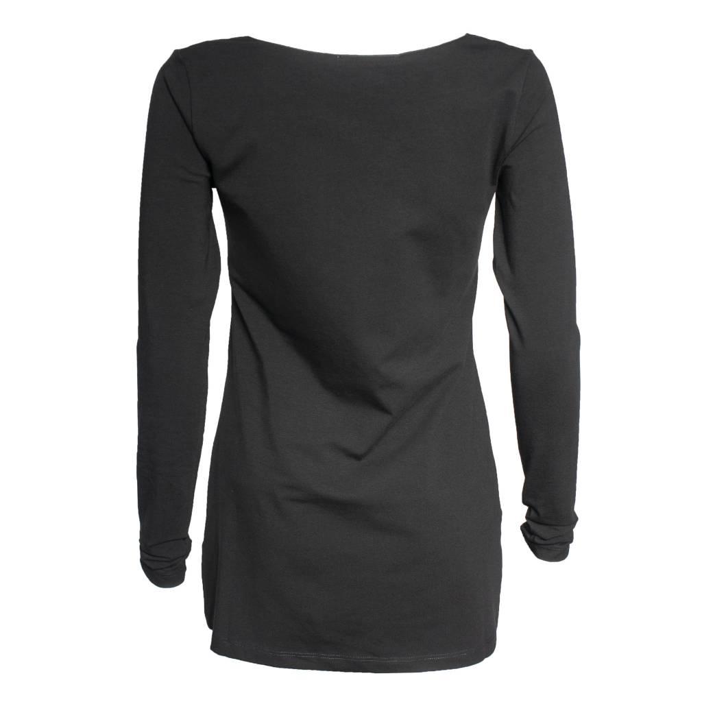 Crea Concept Crea Concept Knit Long Sleeve Top - Black