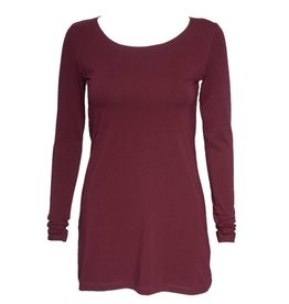 Crea Concept Crea Concept Knit Long Sleeve Top - Burgundy