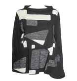 Redwood Court Redwood Court Geo Abstraction Top - Black