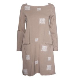 Redwood Court Redwood Court Embroidered Square Shift Dress - Acorn