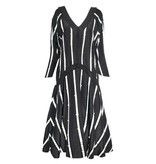 Matthildur Matthildur Stripes Jacquard Dress - Black/Ivory