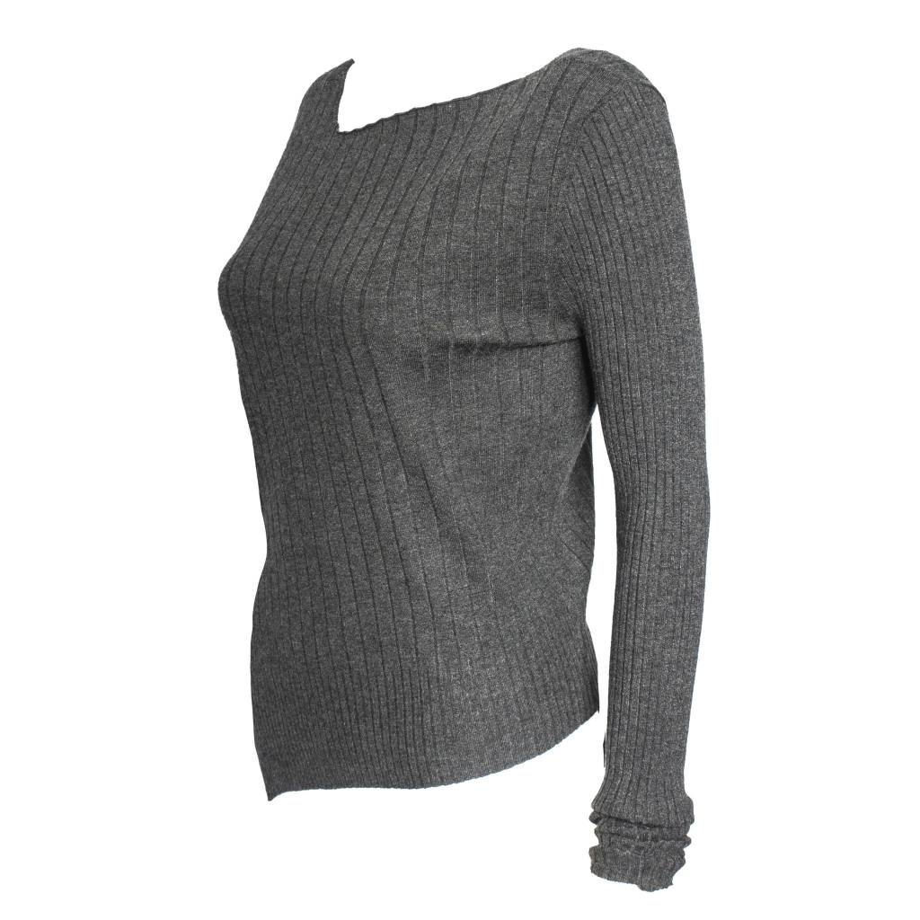 Banana Blue Banana Blue Fitted Sweater - Charcoal