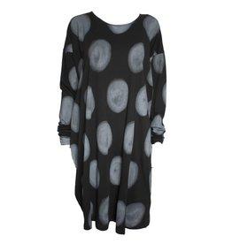 Moyuru Moyuru Moon Print Long Sleeve Tunic - Grey/Black