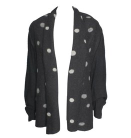 Banana Blue Banana Blue Wide Spot Cardigan - Charcoal