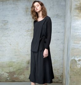Colour 5 Power Colour 5 Power Woven Layer Long Sleeve Dress - Black
