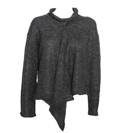 Colour 5 Power Colour 5 Power Metalic Thread Knit Sweater - Charcoal