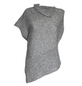 Colour 5 Power Colour 5 Power Metalic Thread Knit Vest - Silver