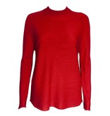 Colour 5 Power Colour 5 Power High Neck Knit Long Sleeve - Red