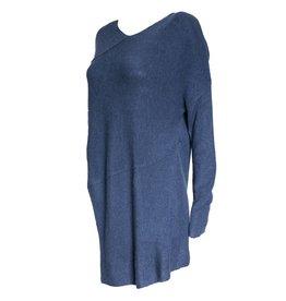 Colour 5 Power Colour 5 Power Angle Cut Knit Long Sleeve - Blue