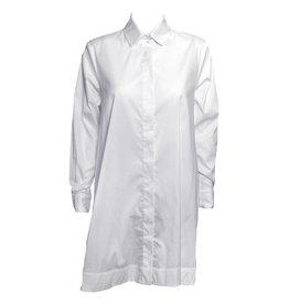 Comfy Comfy Back Zipper Shirt - White