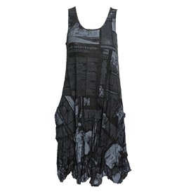 Comfy Comfy Crushed Dress - Newsprint