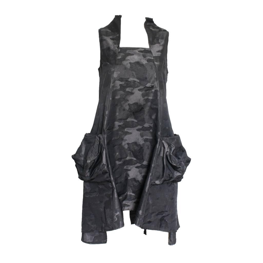 Sun Kim Sun Kim Zip Back Jumper Dress - Dark Camo