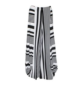 Alembika Alembika Wide Striped Pants - Black/White