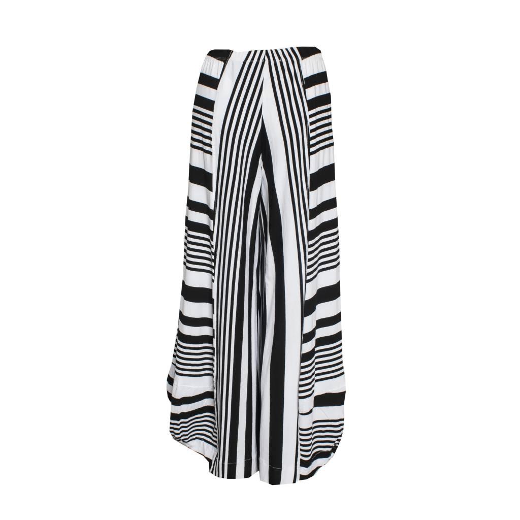 Alembika Alembika Wide Striped Pants - Black/White
