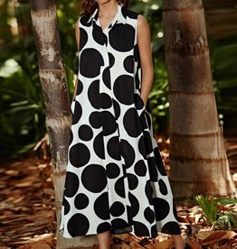 Alembika Alembika Bubble Print Dress - Black/White