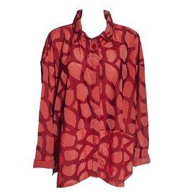 Dress To Kill Dress to Kill Banded Cappy Bold Long Sleeve - Red Blotch