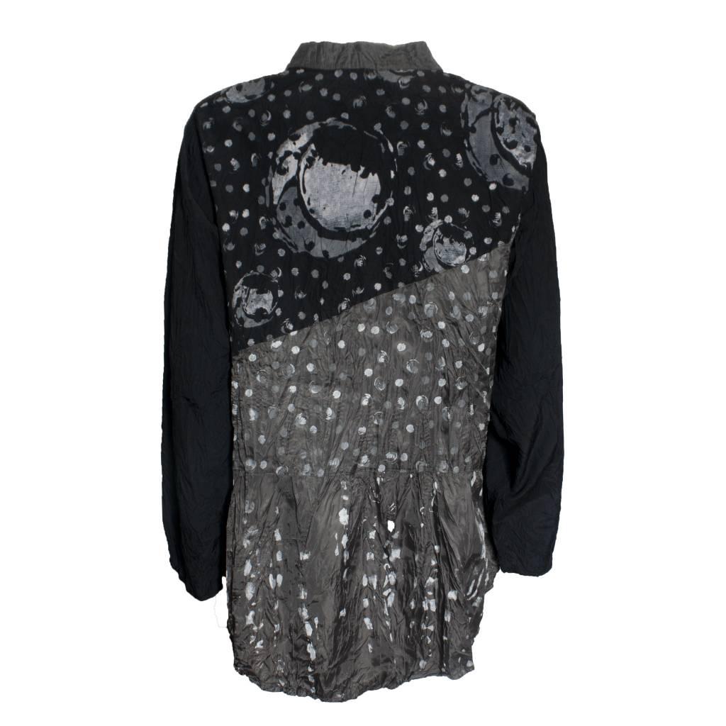 Harubella Harubella Shibori Graphic Jacket- Iridesent Black