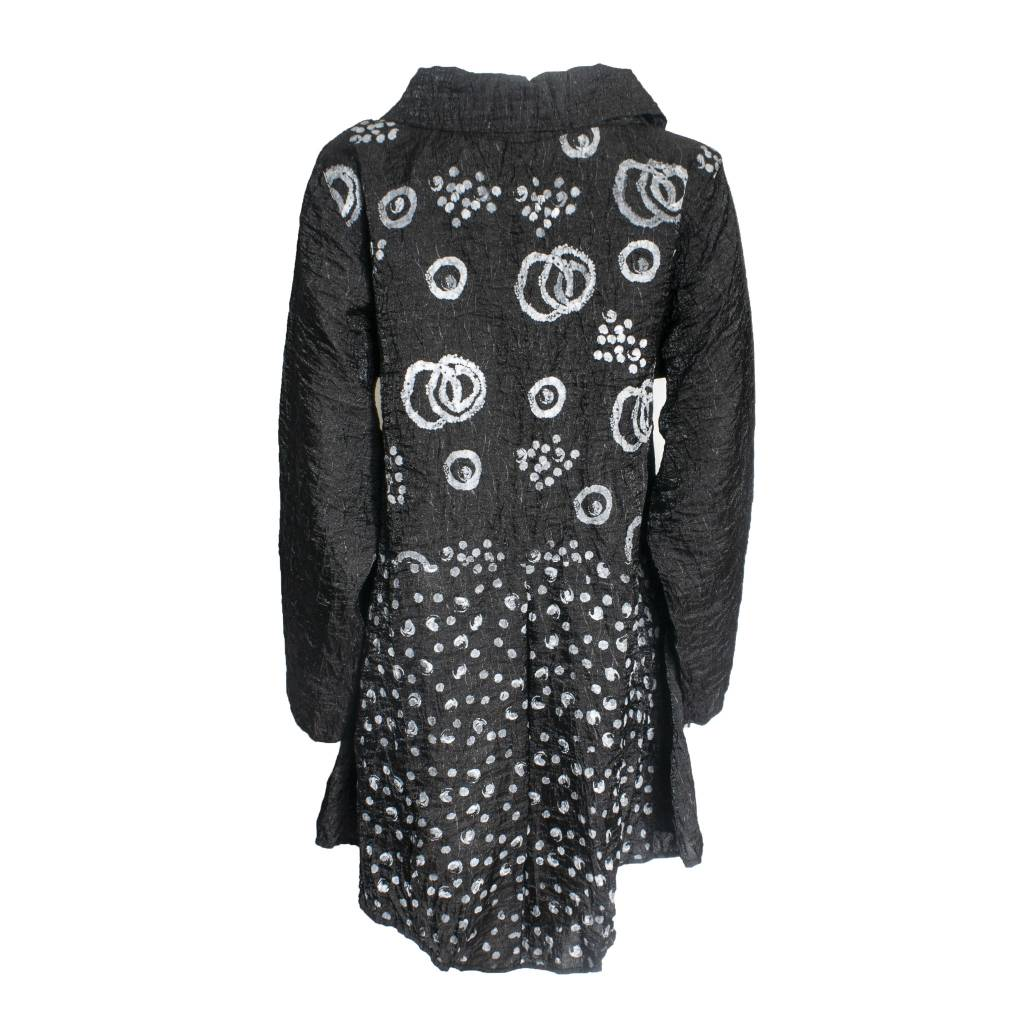 Harubella Harubella Buttoned Cosmic Jacket - Iridescent Black