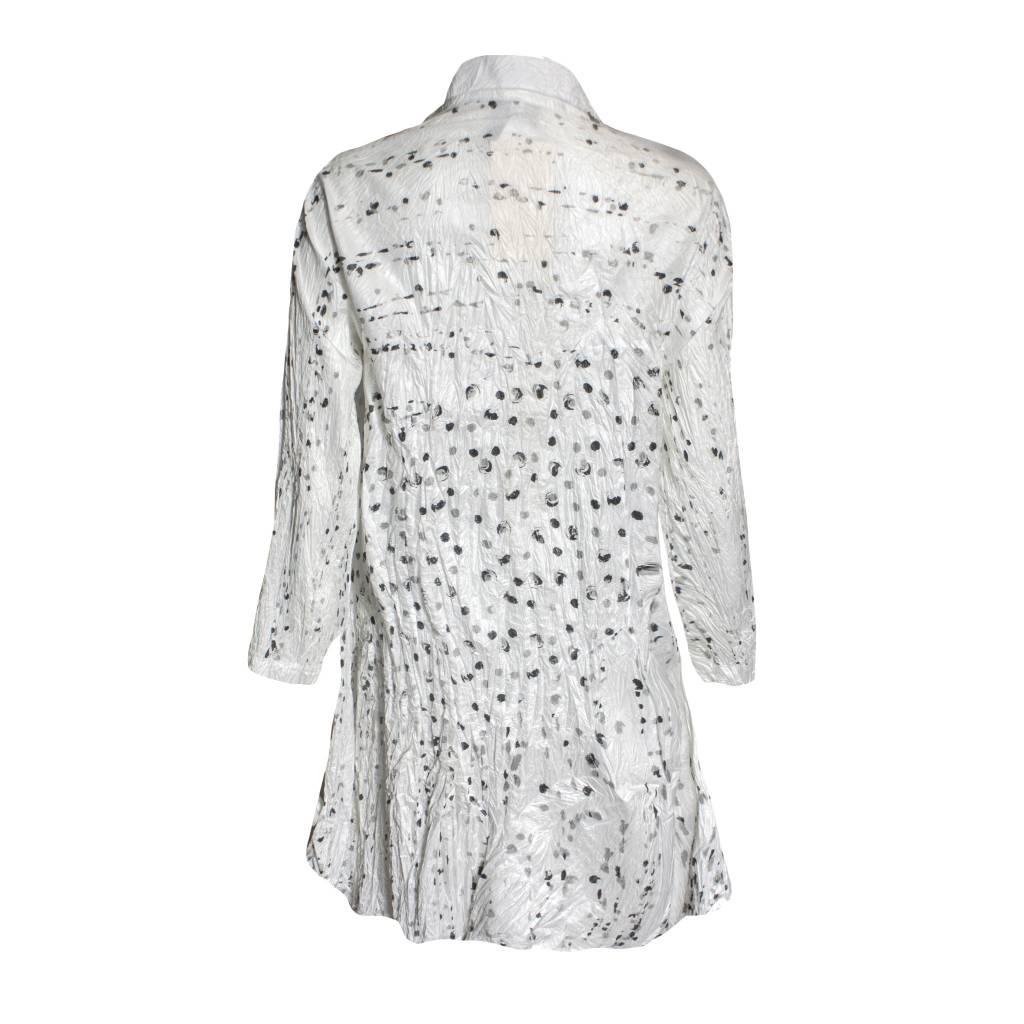 Harubella Harubella Buttoned Cosmic Jacket - Iridescent White