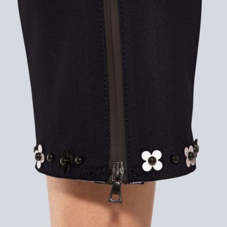 Cambio Cambio Lilian Flower Cuff Pants - Black