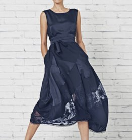 HIGH HIGH Illusion Dress - Navy