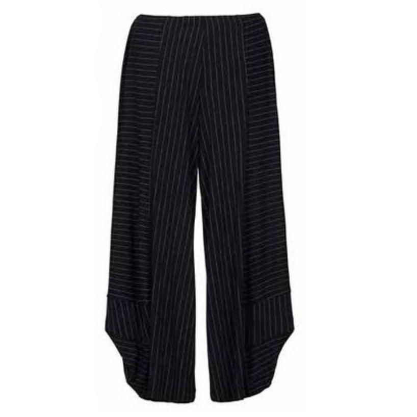Alembika Alembika Bella Pinstripe Pants - Black