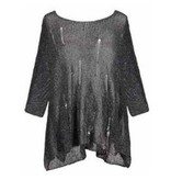 Alembika Alembika Distressed Oversized Sweater - Grey