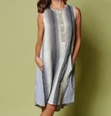 Alembika Alembika Verti Print Tank Dress - Smoke