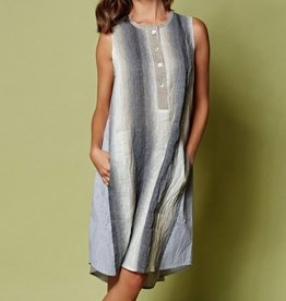 Alembika Alembika Verti Print Tank Dress - Smoke