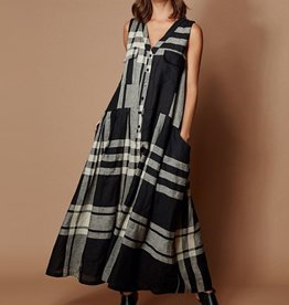 Alembika Alembika Oversized Plaid Pocket Dress - Black