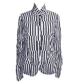 Studio Rundholz Studio Rundholz Stripe Pattern Jacket - Black/White