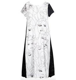 Alembika Alembika Faces Print Dress - Muse