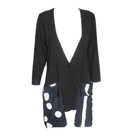 Alembika Alembika Half Dot Long Cardigan - Black