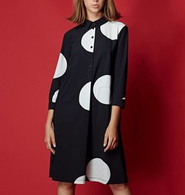 Alembika Alembika Dot Collar Dress - Black